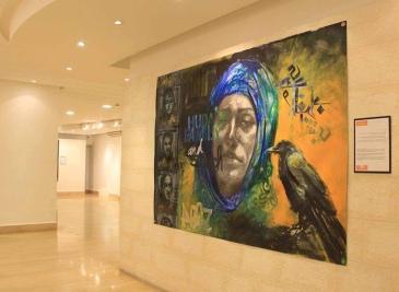 Huda, Wall mounting exhibition