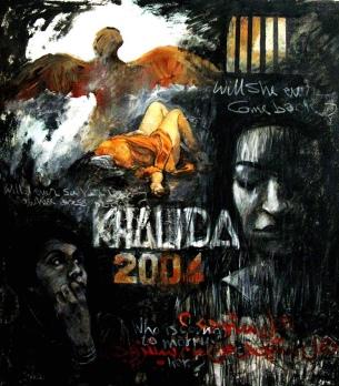 um khalida, painting, S Alusi