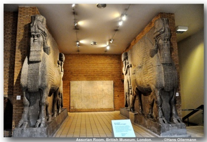 lamassu, assyrian room -british museum