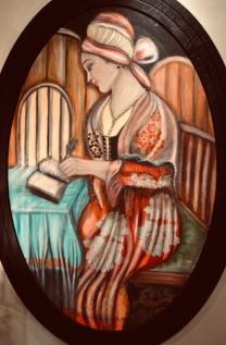 المرأة الأديبة، في تشكيليات عراقيات وأردنيات، بشرى الخطيب